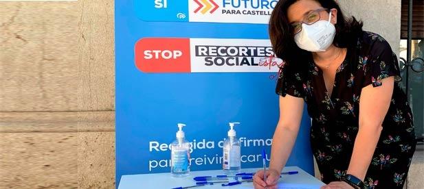 """La diputada y portavoz de Sanidad en la Diputación reclama que los socialistas asuman """"responsabilidades"""" por una infraestructura que ha sido """"un pufo""""."""