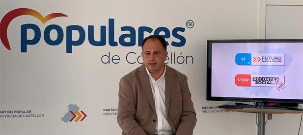 """Salvador Aguilella, secretario general del PPCS, presenta una campaña de recogida de firmas que recorrerá Castellón """"para ganar apoyos que sumen servicios y no los recorten"""""""