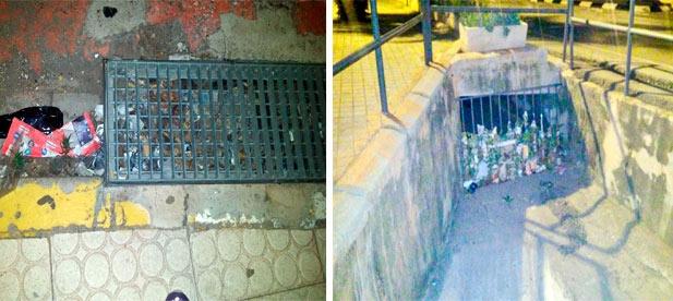 El PP de Almenara ha advertido  que uno de los principales desagües de agua del municipio permanece taponado por la acumulación de desperdicios que dificultaría la canalización del agua en caso de fuertes lluvias.