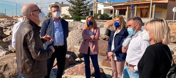 Los populares visitan Almassora y Nules para reivindicar una inversión global que solucione los graves problemas que arrastra el litoral de Castellón