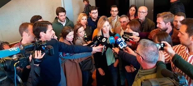 La portavoz del PP participa en una jornada de Nuevas Generaciones del PP de Castellón.