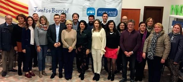 Consuelo Vilarrocha se ha convertido esta tarde en la nueva presidenta de la agrupación local del Partido Popular de Borriol.