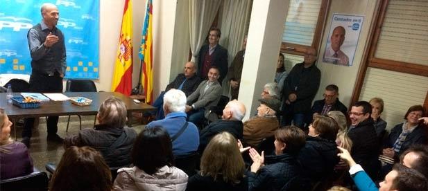 Mario García repite al frente del Partido Popular de Nules después de que el pasado jueves fuera aclamado por la militancia para dar continuidad a una labor iniciada