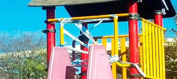 """Rubén Miralles ha criticado que el equipo de gobierno """"esté centrado en la organización de la inauguración del equipamiento del espacio lúdico del Parque Hermanas Ferrer Bou y descuide el mantenimiento del resto de parques de la ciudad"""""""