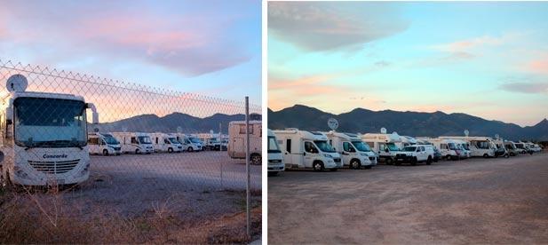 """Guillamón: """"Acampan gratis en zonas no autorizadas e invaden aparcamientos como el del aeródromo, que no está adaptado para que pernocten, ni para el vaciado de aguas grises"""""""