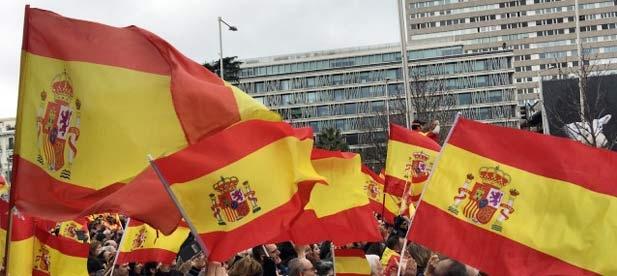 """Concentración """"Por una España unida ¡Elecciones ya!"""", hoy en la Plaza de Colón de Madrid."""