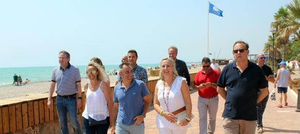 Bañuls ha celebrado hoy que el Gobierno de España siga avanzando con paso firme en las obras de regeneración de la costa sur y en la lucha contra la regresión.