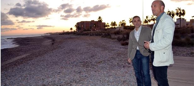 García ha puesto en valor esta inversión que el Estado ha lanzado este año con el objetivo de obtener en 2018 un proyecto que permita estabilizar la playa de Les Marines de Nules.