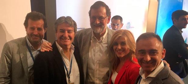 Barrachina ha asistido a la primera reunión de presidentes provinciales en la que los 50 líderes de las provincias de España han mostrado su respaldo al presidente del PP, Mariano Rajoy