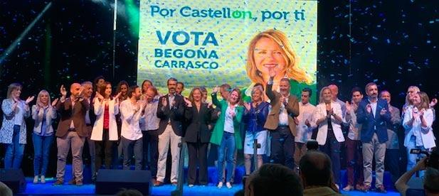 La candidata del Partido Popular a la Alcaldía de Castellón, Begoña Carrasco, ha presentado al equipo de hombres y mujeres que le acompañan para, desde el centro moderado, liderar el cambio que Castellón necesita.
