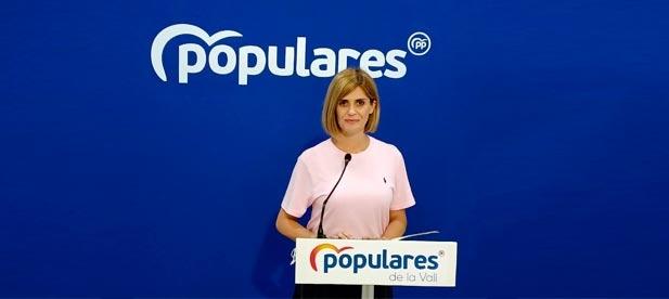 Carolina Castelló, portavoz del PP en el Ayuntamiento de la Vall d'Uixó.