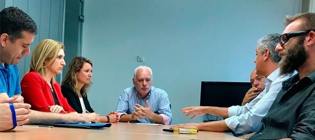 El PP ha mantenido una reunión con la Dirección Provincial de Costas y con empresarios donde se ha abordado el compromiso de garantizar la sostenibilidad ambiental