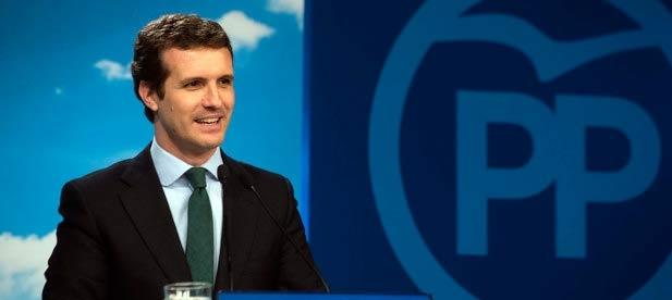 Pablo Casado en rueda de prensa Valoración Resultados Electorales