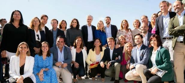 El Presidente nacional, Pablo Casado con la candidatura PP por Madrid al Congreso y Senado