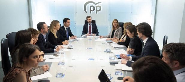 El presidente del PP comparece en rueda de prensa tras la reunión del Comité de Dirección