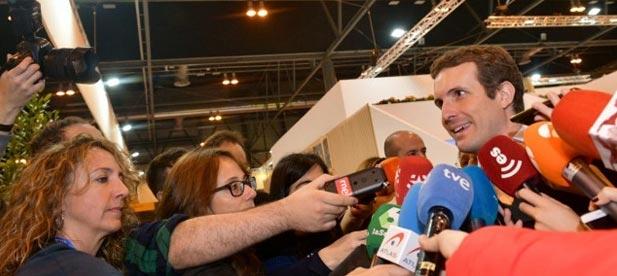 Casado afirma que España debe liderar en Europa el apoyo a Guiadó y denunciar los crímenes de lesa humanidad de Maduro.