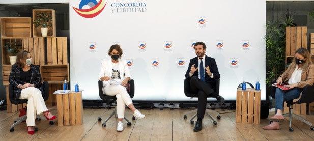 Pablo Casado en un acto de la Fundación Concordia y Libertad