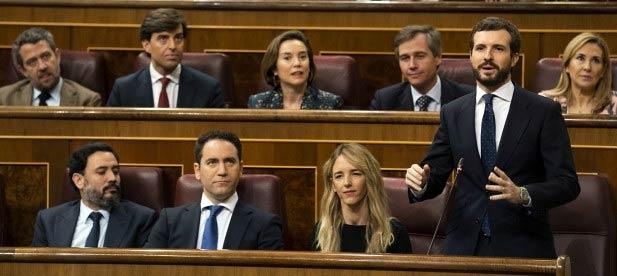 Pablo Casado en la Sesión de Control al Gobierno