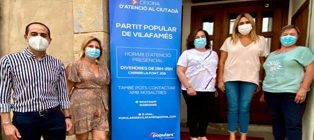 """Marta Barrachina: """"El PP está centrado en escuchar y ayudar a solucionar los problemas de los vecinos. Y estas oficinas que se están implantando por toda la provincia son un buen ejemplo"""""""