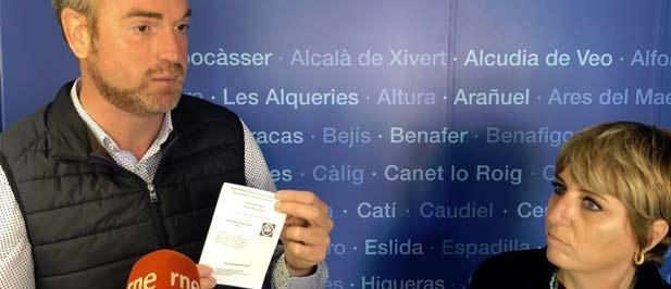 """Vicente-Ruiz: """"Un notario ha levando acta de manifestaciones y hemos presentado denuncia ante la Junta Electoral que todavía no ha resuelto"""""""