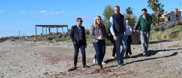 """Clavell: """"El compromiso del Partido Popular será regenerar el litoral de Almenara, recuperar la inversión prevista  y hacer lo antes posible la obra que el PSOE ha negado a los castellonenses"""""""