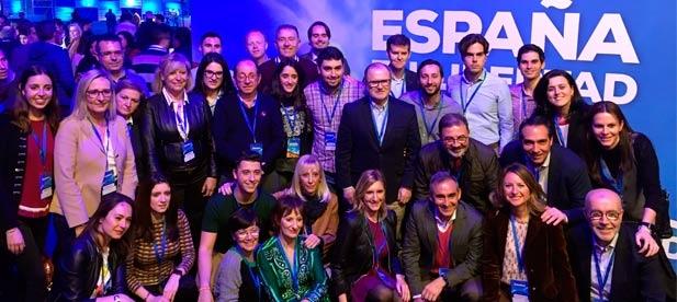 Los populares de Castellón acuden a la convención nacional del PP para escenificar la necesidad de recuperar las políticas que creen empleo