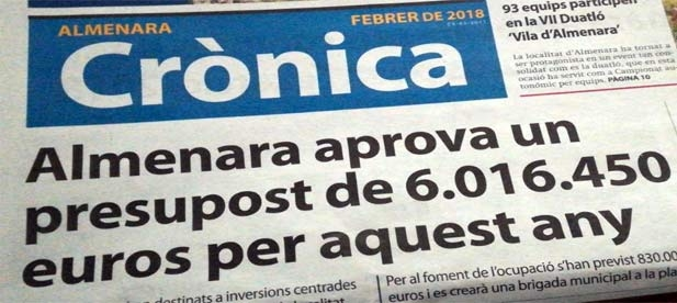 El GMP de Almenara critica a la alcaldesa imputada por haber colocado al Jefe de la Policía Local.