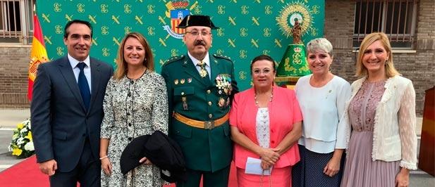 Carrasco ha participado hoy en los actos de conmemoración del Día de la Hispanidad y de la Virgen del Pilar, patrona de la Guardia Civil, que han tenido lugar en la Comandancia de Castellón.