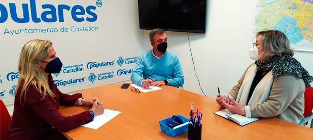 Redondo y Fabregat se han reunido con la coordinadora en Castellón de la Asociación Autónomos Unidos para Actuar (AUPA), Encarna Martínez