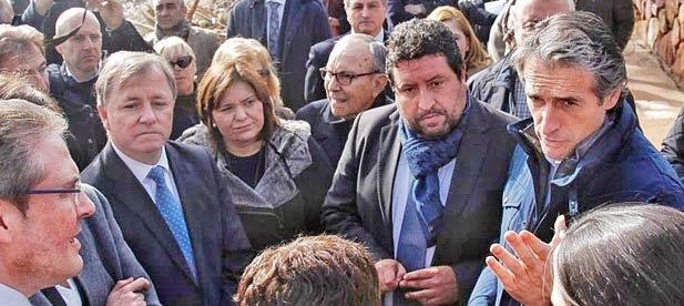 El 24 de enero de 2017, el ministro de Fomento y la secretaria de Estado de Medio Ambiente visitaron Almenara. El 27 de enero el Consejo de Ministros aprobó las ayudas