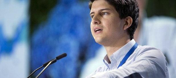 """El presidente nacional electo de Nuevas Generaciones, Diego Gago, ha afirmado hoy que """"NNGG está abierta para todos los jóvenes que quieran trabajar por su país""""."""
