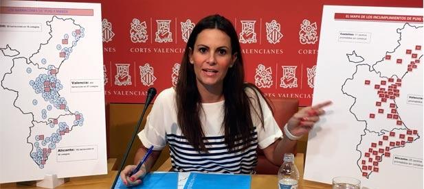 """Gascó: """"En Castellón hay 84 barracones en 16 colegios, en Valencia 203 barracones en 57 colegios, y 182 barracones en 46 colegios en Alicante""""."""