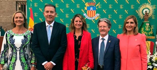 Carrasco junto a todos los concejales populares ha asistido al acto institucional de la Festividad de la Santísima Virgen del Pilar, en el cuartel de la Guardia Civil.