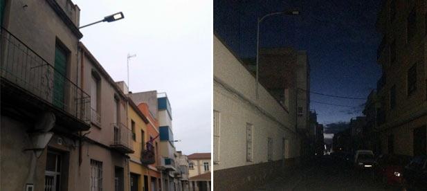 """Los vecinos de los barrios de Sant Xotxim, o los residentes de calles como Isaac Peral o la carretera de la Vilavella permanecían a oscuras """"mientras los gestores que ocupan el ayuntamiento siguen apoltronados en sus despachos"""""""