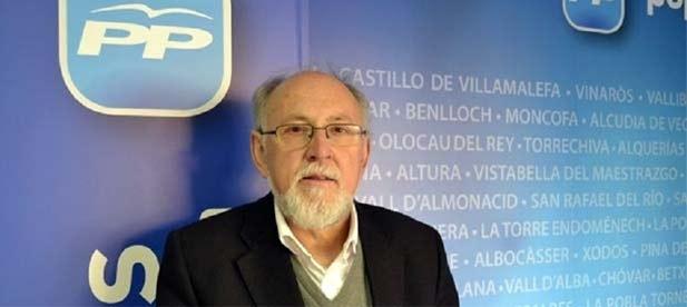 José Agustín Almela fue presidente local y portavoz del PP de Morella desde 2011. DEP.