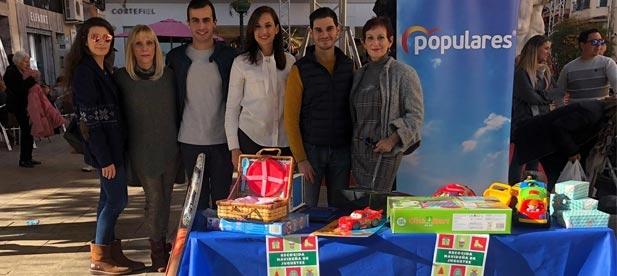 Con el lema, 'Esta Navidad regala una sonrisa', la iniciativa continúa activa hasta el día 3 de enero en la sede del PP y en el Grupo Municipal Popular en el Ayuntamiento.