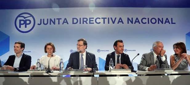 """Ante la Junta Directiva Nacional que ha fijado el congreso extraordinario para el 21 y 22 de julio, Rajoy ha asegurado que no tiene """"ni sucesores ni delfines"""" en clara alusión a Cospedal y Sáenz de Santamaría"""
