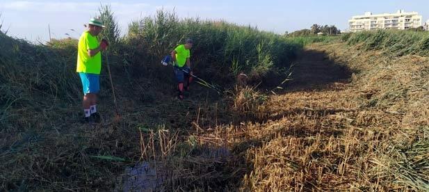 El Ayuntamiento prioriza las labores de limpieza con más de 40 trabajadores en el campo para prevenir posibles inundaciones