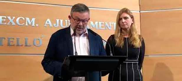 """Feliu: """"Queremos saber si la alcaldesa tenía conocimiento, en el momento de realizar junto a él las manifestaciones alegando su honradez y honestidad, de que estaba citado ya a comparecer como investigado"""""""