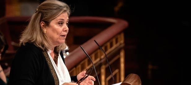 Macarena Montesinos durante el Pleno en el Congreso de los Diputados
