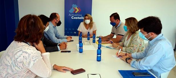 """""""El Gobierno del PSOE debe ampliar hasta los 1,6 millones el plan Castellón Sénior, conectar vía aérea con Madrid, reducir el IVA e implantar PCR gratuitas"""", afirma la líder del PP"""