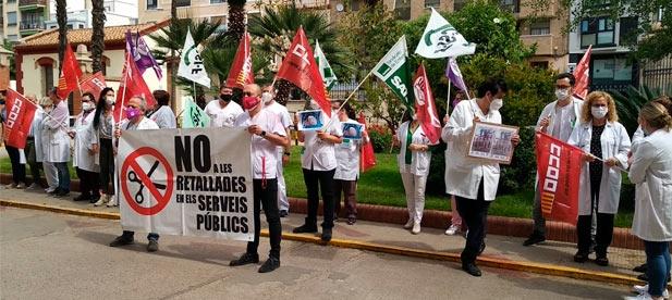 Manifestación médicos Hospital Provincial de Castellón