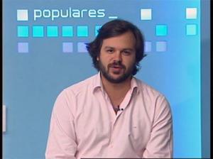 El presidente nacional de Nuevas Generaciones, Nacho Uriarte