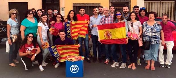 """Blay: """"Frente a los que desunen y buscan confrontación, nosotros presumimos de nuestra señera y de los colores de España"""""""