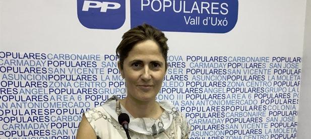 """Salvador: """"Una vez más, desde el PP estamos llevando la iniciativa de gobierno en la Vall d'Uixó porque el tripartito solo reacciona cuando denunciamos públicamente las quejas que nos traslada la gente o los colectivos"""""""