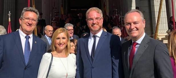 En la imagen de izquierda a derecha, Vicente Martínez, Salomé Pradas, Óscar Clavell y Alberto Fabra.