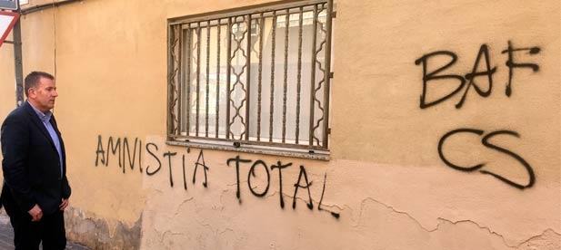 El PP de Castellón ya presentó la semana pasada denuncia ante la Policía Nacional por los ataques a la sede popular.
