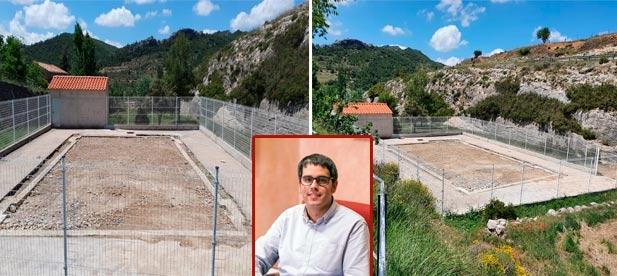 """Para Jesús Lecha, portavoz del PP, """"es el mejor ejemplo de las políticas del despilfarro del PSOE (en la imagen, Rhamsés). Gastaron 60.000 euros en construirla y ahora gastan otro tanto en enterrarla"""""""