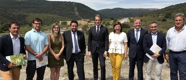 Noelia García (PP) ha celebrado hoy el inicio de las obras de la N-232 en el Puerto de Querol