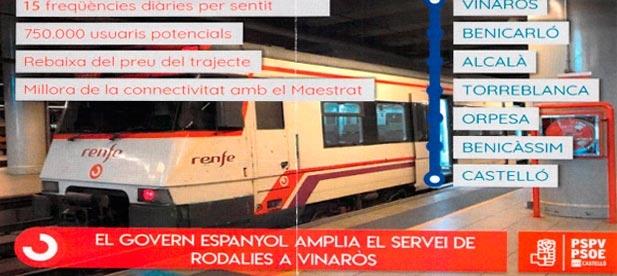 """Vicente-Ruiz (PP): """"Los trenes han llegado al Maestrat a pesar del voto en contra del PSOE y no vamos a tolerar que se burlen de los vecinos"""""""